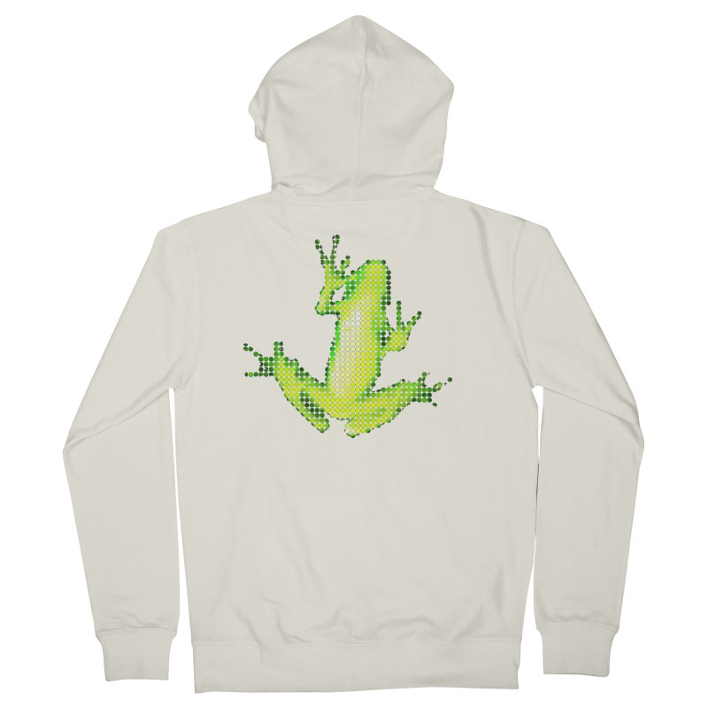 Frog Matrix Men's French Terry Zip-Up Hoody by 7thSin Apparel