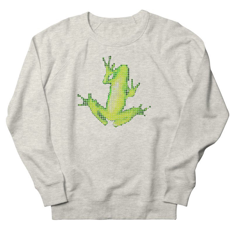 Frog Matrix Women's French Terry Sweatshirt by 7thSin Apparel