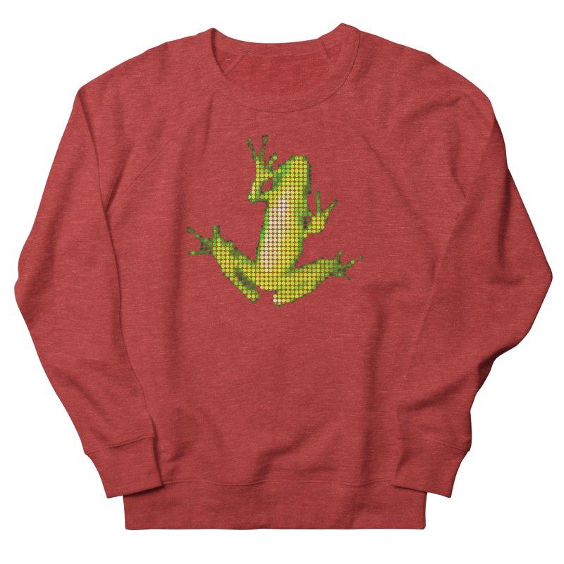 Frog Matrix Men's French Terry Sweatshirt by 7thSin Apparel