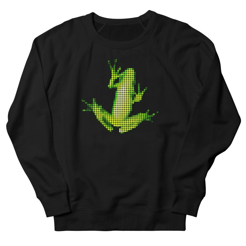 Frog Matrix Men's French Terry Sweatshirt by 7thSin Apparel
