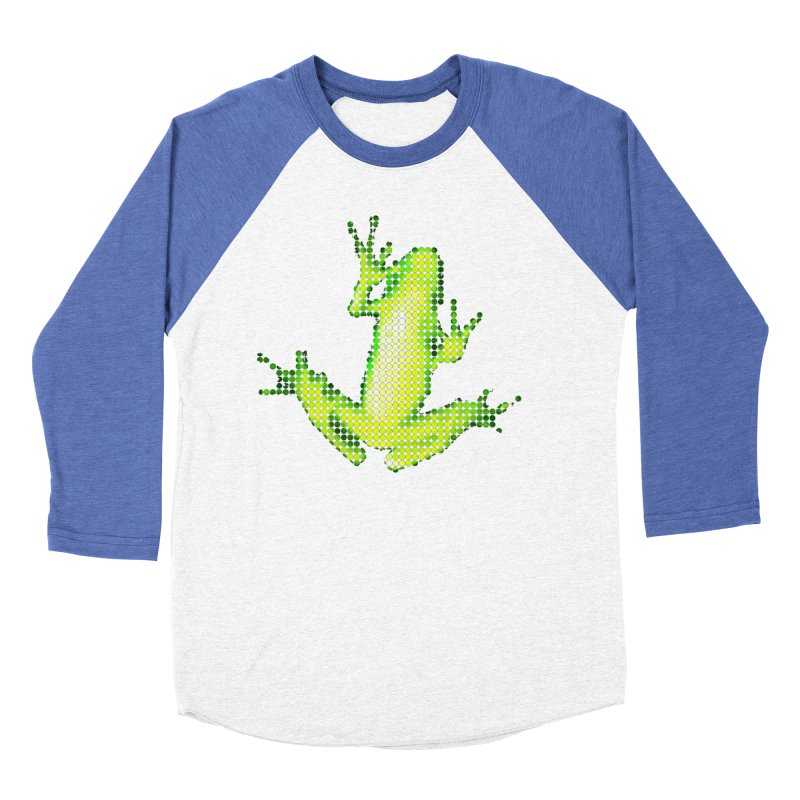 Frog Matrix Women's Baseball Triblend Longsleeve T-Shirt by 7thSin Apparel