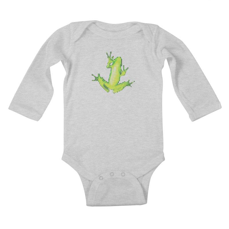 Frog Matrix Kids Baby Longsleeve Bodysuit by 7thSin Apparel