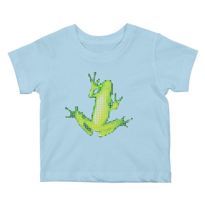 Frog Matrix Kids Baby T-Shirt by 7thSin Apparel