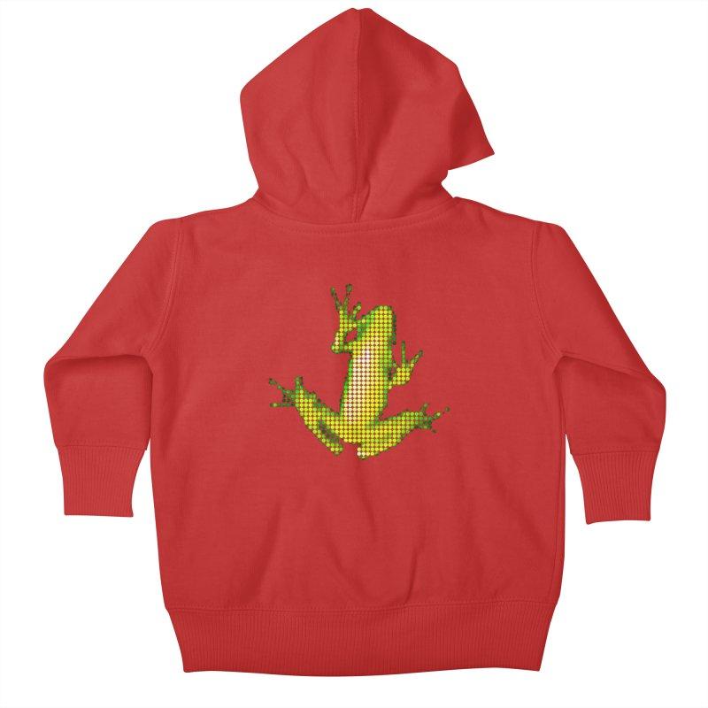 Frog Matrix Kids Baby Zip-Up Hoody by 7thSin Apparel