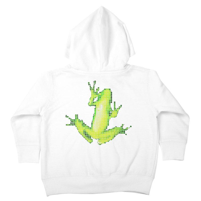 Frog Matrix Kids Toddler Zip-Up Hoody by 7thSin Apparel