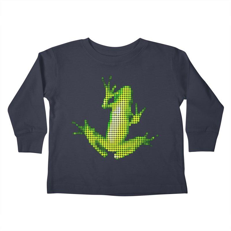 Frog Matrix Kids Toddler Longsleeve T-Shirt by 7thSin Apparel