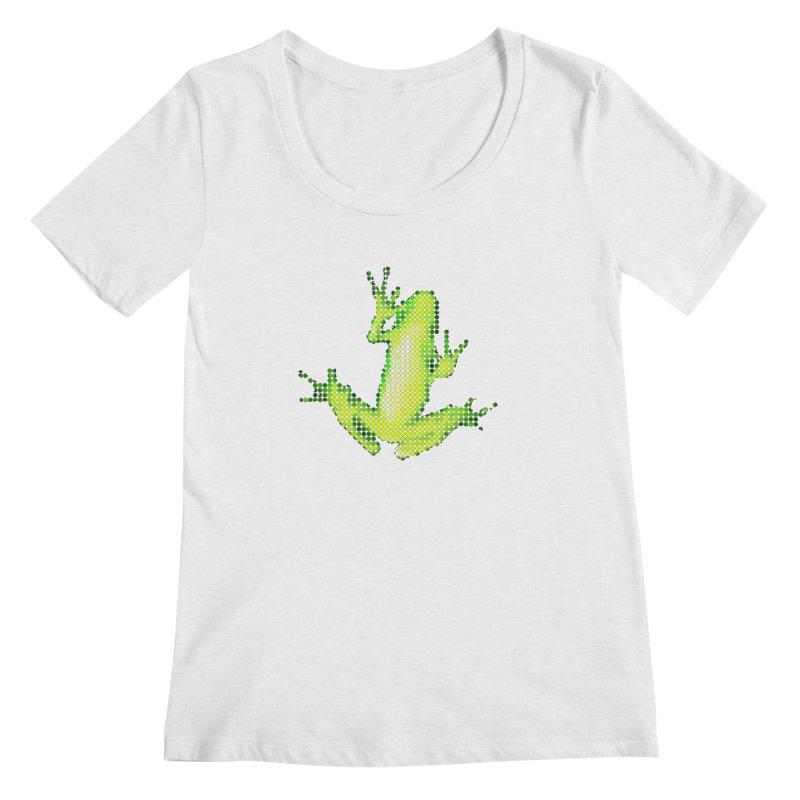 Frog Matrix Women's Regular Scoop Neck by 7thSin Apparel