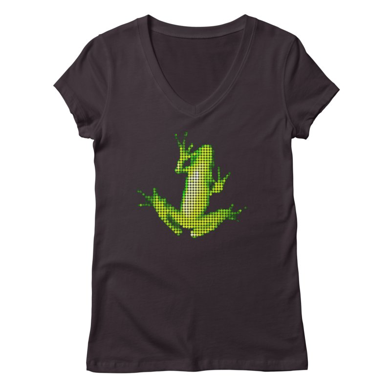 Frog Matrix Women's Regular V-Neck by 7thSin Apparel