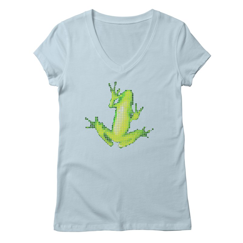 Frog Matrix Women's Regular V-Neck by 7thSin Apparel