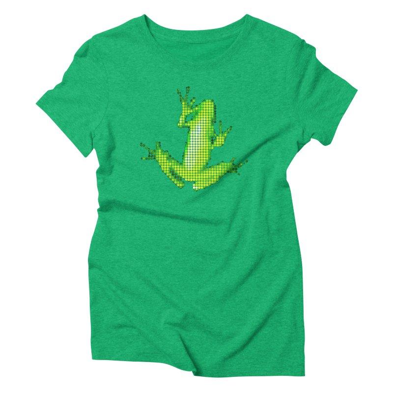 Frog Matrix Women's Triblend T-Shirt by 7thSin Apparel