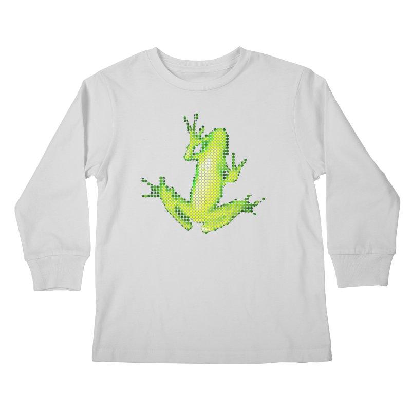Frog Matrix Kids Longsleeve T-Shirt by 7thSin Apparel