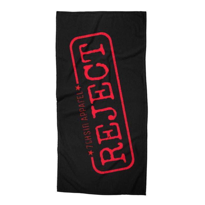 REJECT (7thSin logo) Accessories Beach Towel by 7thSin Apparel