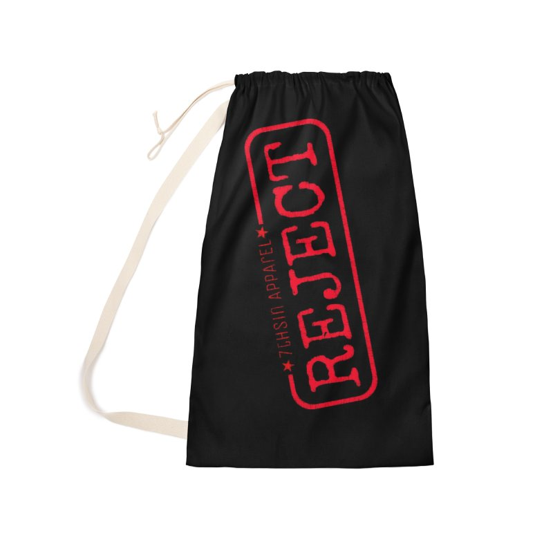 REJECT (7thSin logo) Accessories Laundry Bag Bag by 7thSin Apparel
