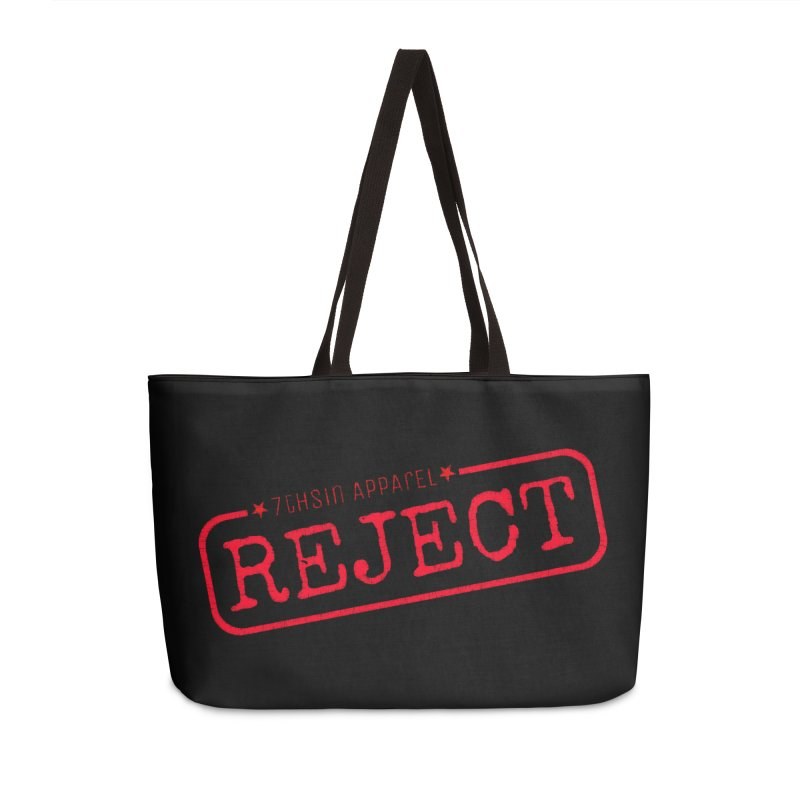 REJECT (7thSin logo) Accessories Weekender Bag Bag by 7thSin Apparel