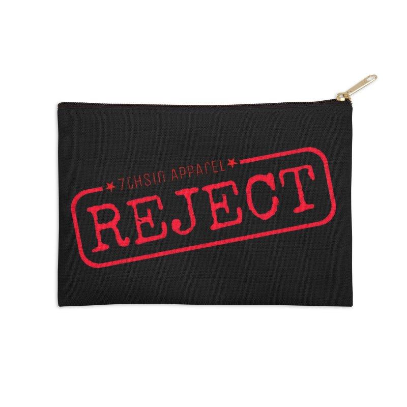 REJECT (7thSin logo) Accessories Zip Pouch by 7thSin Apparel