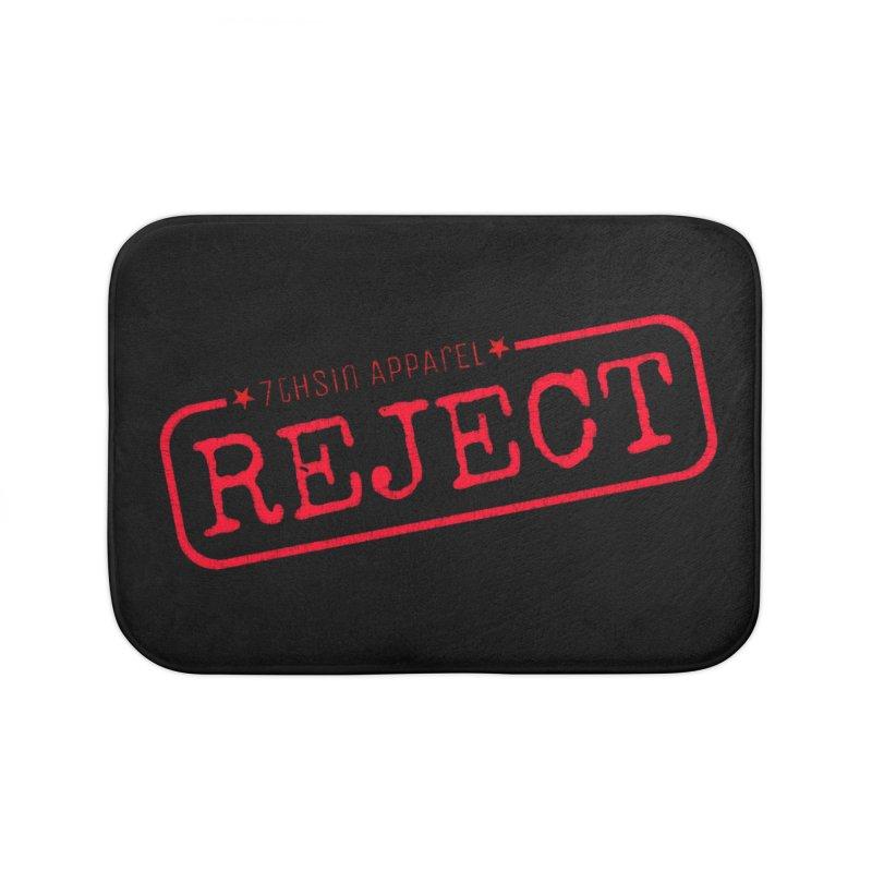 REJECT (7thSin logo) Home Bath Mat by 7thSin Apparel