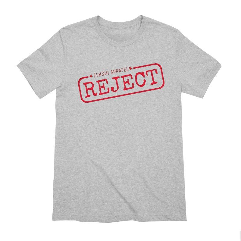 REJECT (7thSin logo) Men's Extra Soft T-Shirt by 7thSin Apparel