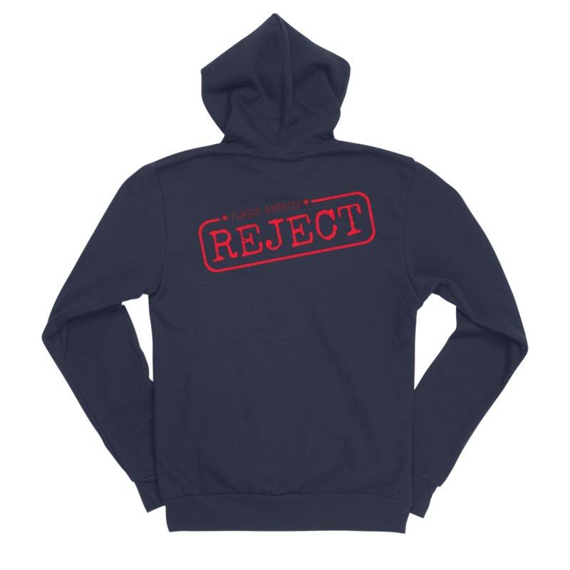 REJECT (7thSin logo) Women's Sponge Fleece Zip-Up Hoody by 7thSin Apparel
