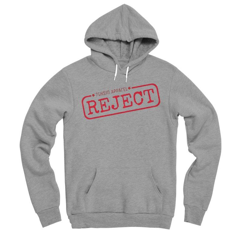 REJECT (7thSin logo) Men's Sponge Fleece Pullover Hoody by 7thSin Apparel