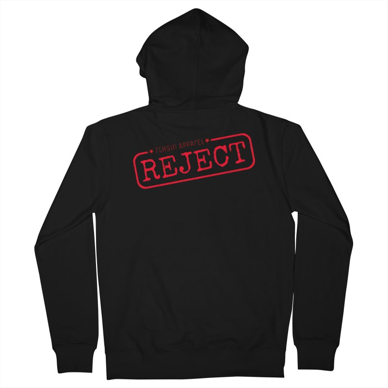 REJECT (7thSin logo) Women's French Terry Zip-Up Hoody by 7thSin Apparel