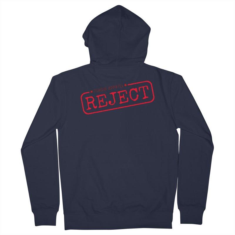 REJECT (7thSin logo) Men's French Terry Zip-Up Hoody by 7thSin Apparel