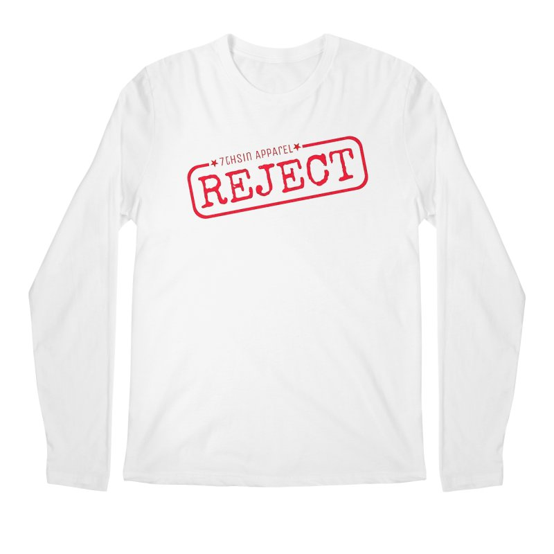 REJECT (7thSin logo) Men's Regular Longsleeve T-Shirt by 7thSin Apparel