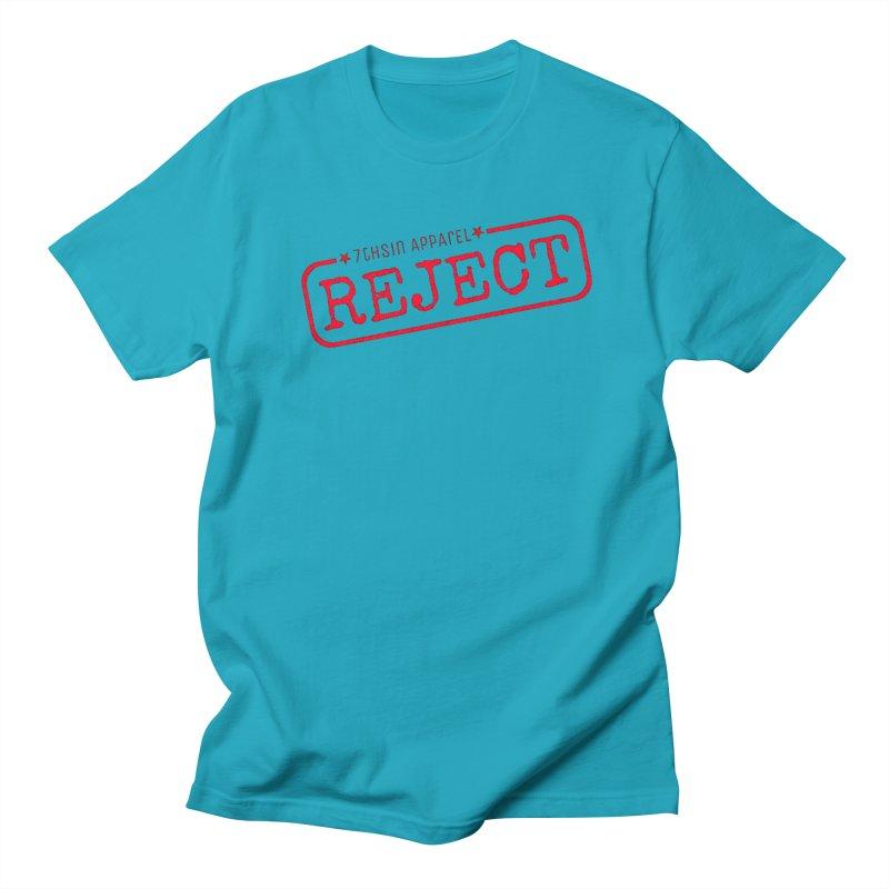 REJECT (7thSin logo) Men's Regular T-Shirt by 7thSin Apparel
