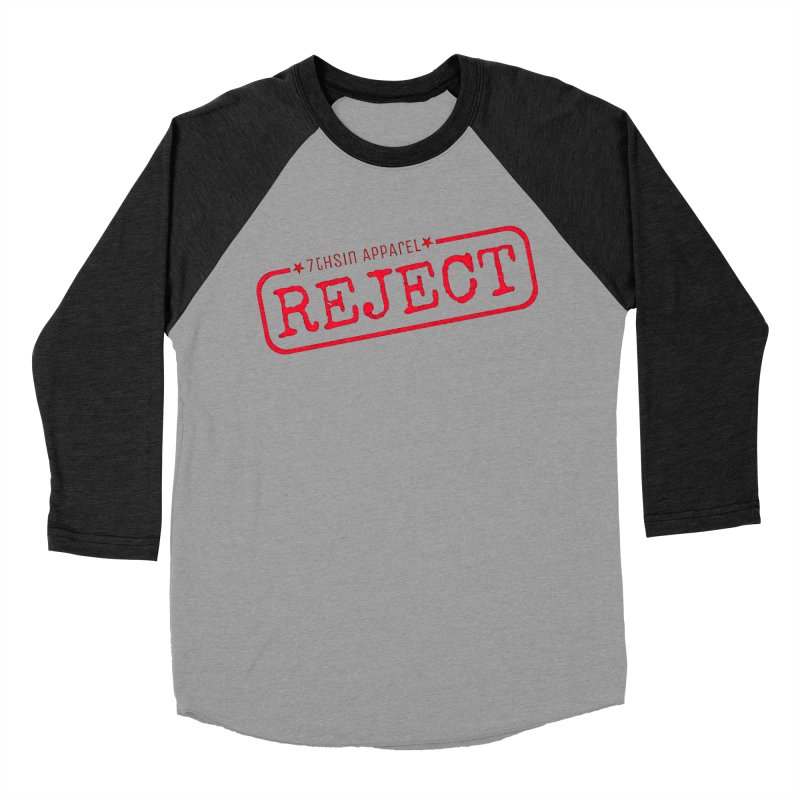REJECT (7thSin logo) Women's Baseball Triblend Longsleeve T-Shirt by 7thSin Apparel