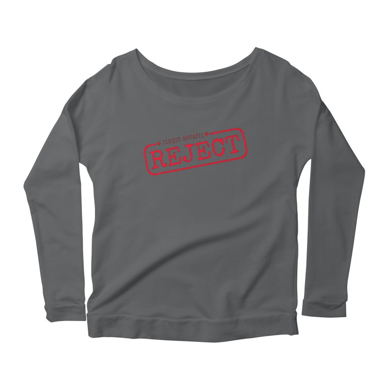 REJECT (7thSin logo) Women's Scoop Neck Longsleeve T-Shirt by 7thSin Apparel