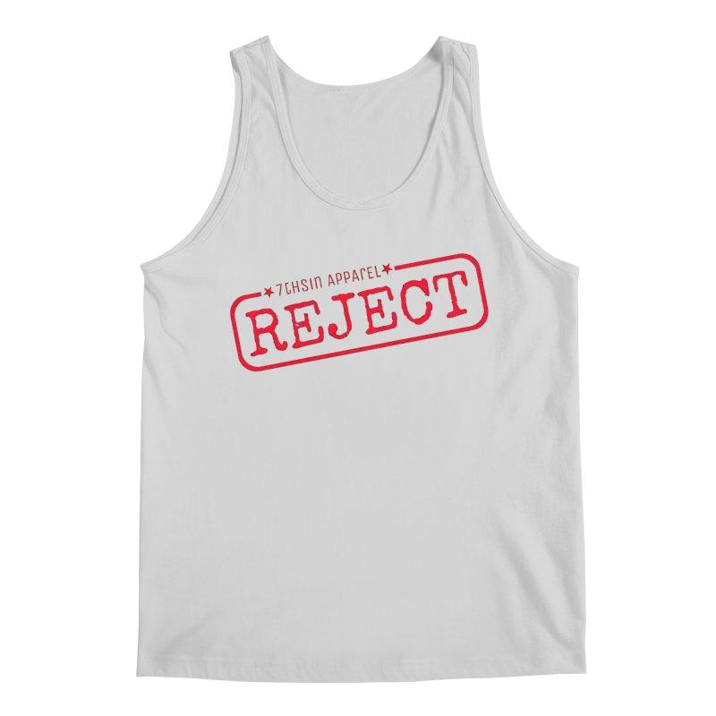REJECT (7thSin logo) Men's Regular Tank by 7thSin Apparel
