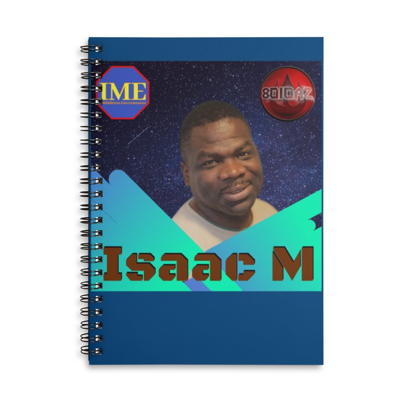 Isaac M - Poster Accessories Lined Spiral Notebook by 8010az's Shop