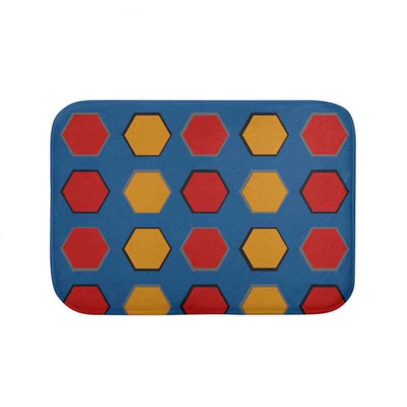 Red and Gold Pattern Design Home Bath Mat by 8010az's Shop