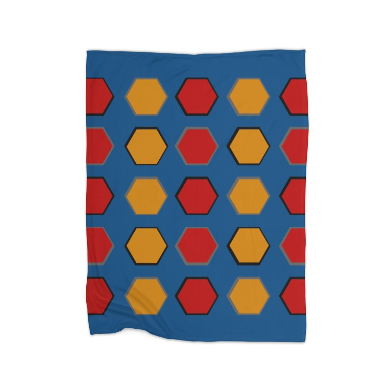 Red and Gold Pateren Home Fleece Blanket Blanket by 8010az's Shop