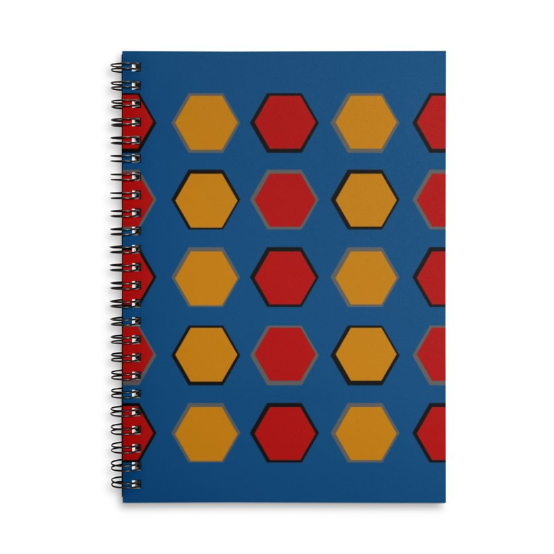 Red and Gold Pattern Design Accessories Lined Spiral Notebook by 8010az's Shop