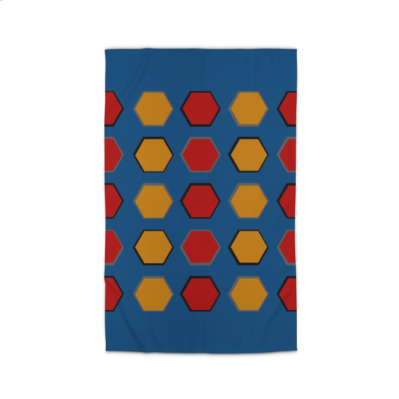 Red and Gold Pattern Design Home Rug by 8010az's Shop