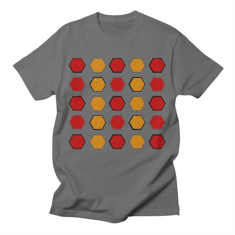 Red and Gold Pattern Design Men's T-Shirt by 8010az's Shop