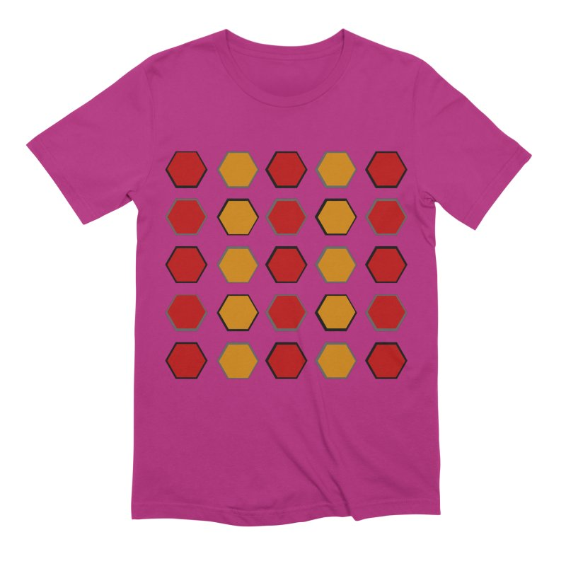 Red and Gold Pattern Design Men's Extra Soft T-Shirt by 8010az's Shop