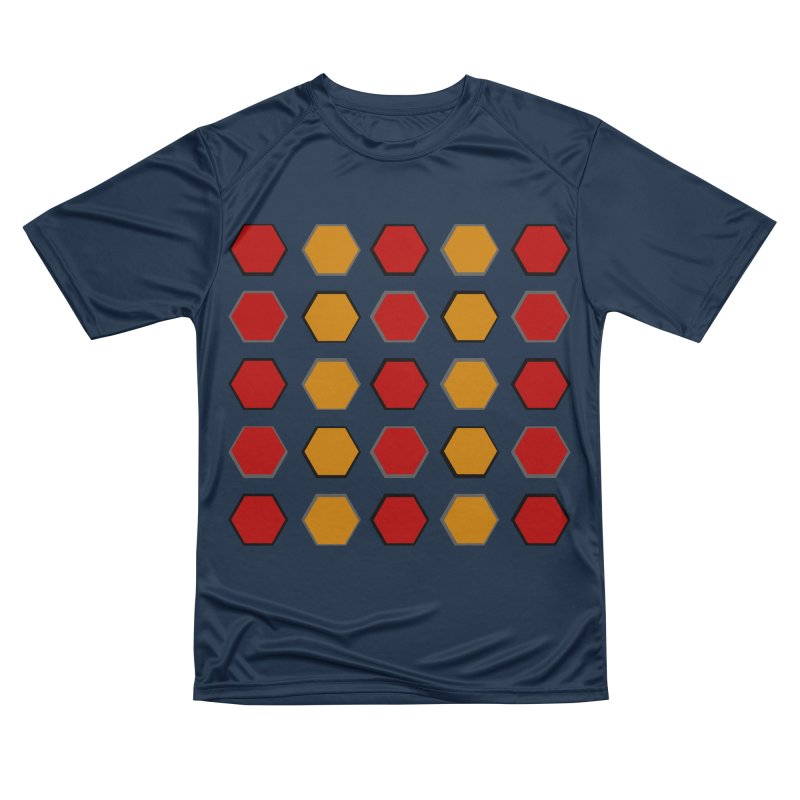 Red and Gold Pattern Design Men's Performance T-Shirt by 8010az's Shop