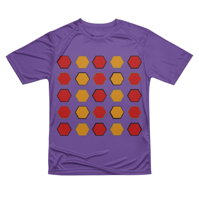 Red and Gold Pattern Design Women's Performance Unisex T-Shirt by 8010az's Shop