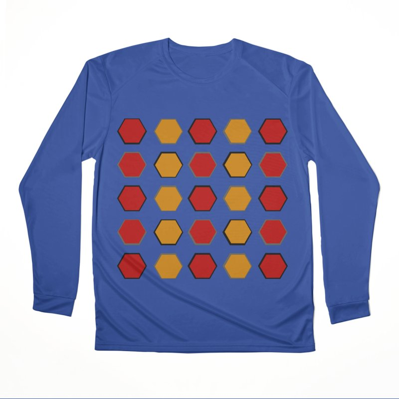 Red and Gold Pattern Design Women's Performance Unisex Longsleeve T-Shirt by 8010az's Shop