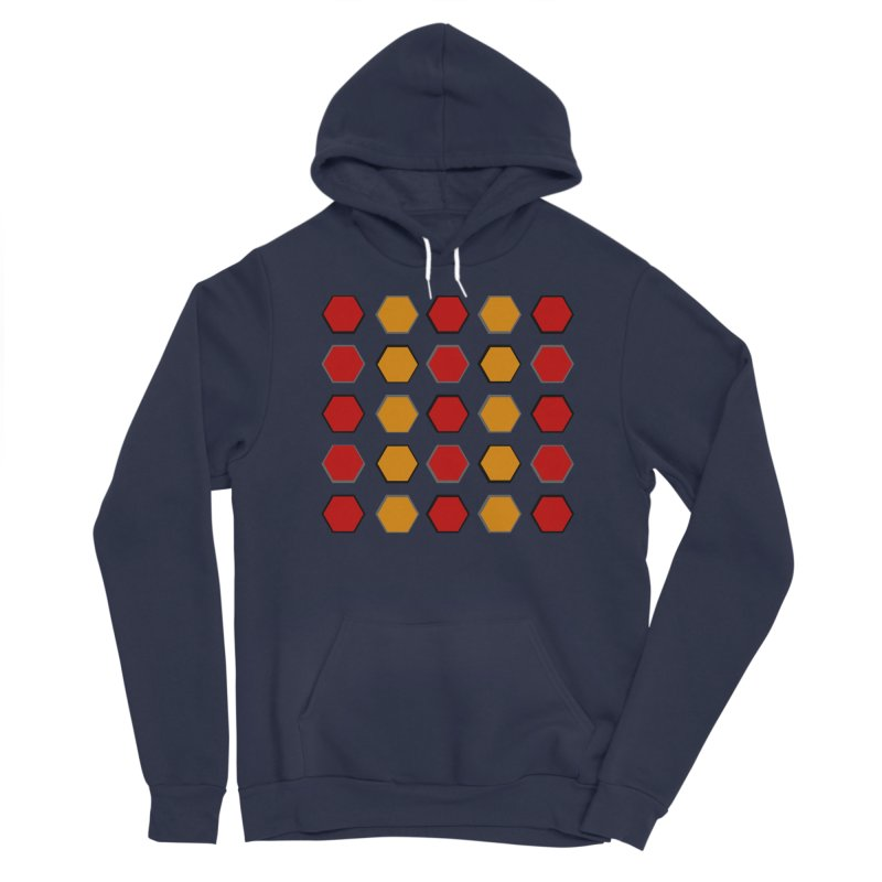 Red and Gold Pattern Design Women's Sponge Fleece Pullover Hoody by 8010az's Shop