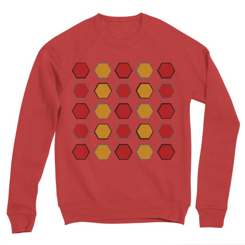 Red and Gold Pattern Design Men's Sponge Fleece Sweatshirt by 8010az's Shop