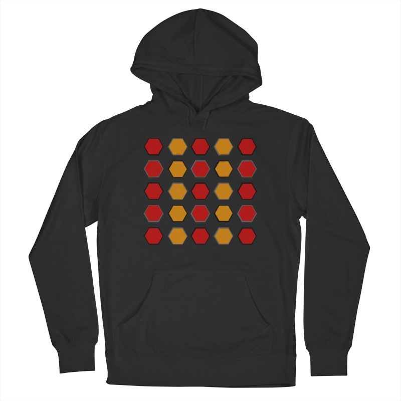 Red and Gold Pattern Design Women's French Terry Pullover Hoody by 8010az's Shop