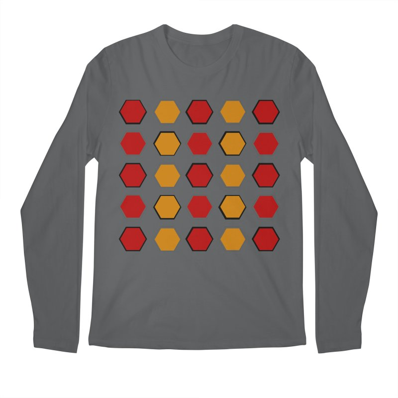 Red and Gold Pattern Design Men's Longsleeve T-Shirt by 8010az's Shop