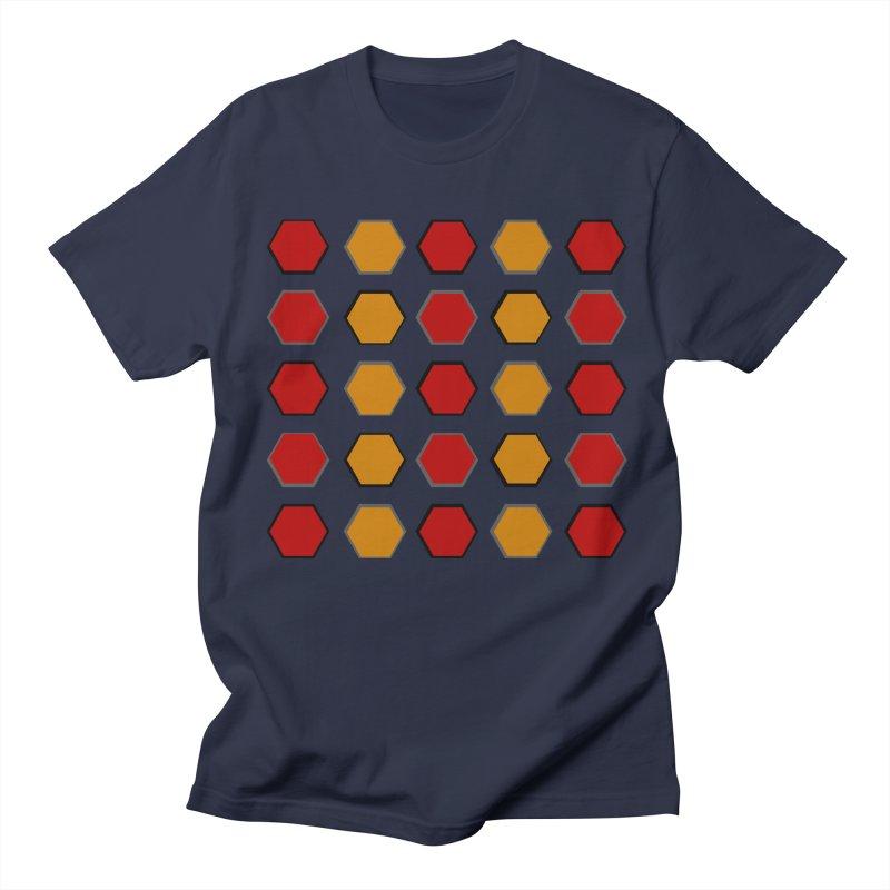 Red and Gold Pattern Design Men's Regular T-Shirt by 8010az's Shop