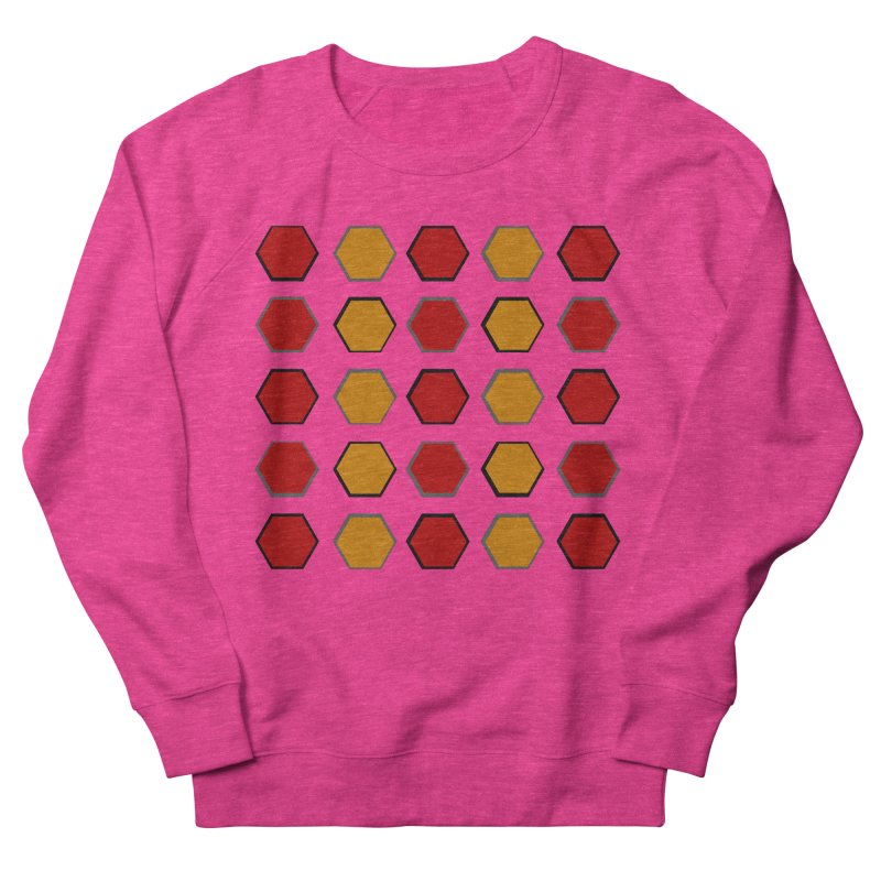 Red and Gold Pattern Design Women's French Terry Sweatshirt by 8010az's Shop
