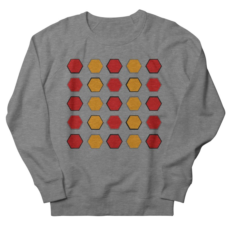Red and Gold Pattern Design Men's French Terry Sweatshirt by 8010az's Shop
