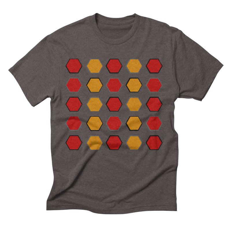 Red and Gold Pateren Men's Triblend T-Shirt by 8010az's Shop