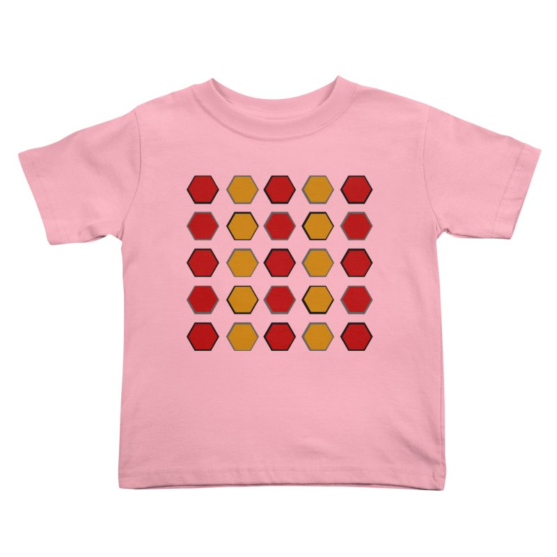 Red and Gold Pattern Design Kids Toddler T-Shirt by 8010az's Shop