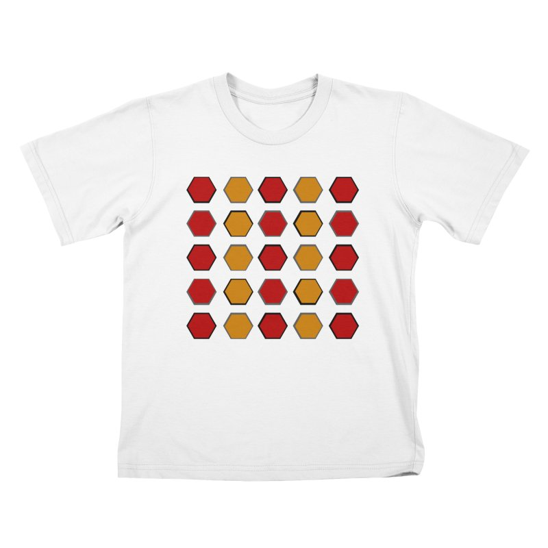 Red and Gold Pateren Kids T-Shirt by 8010az's Shop